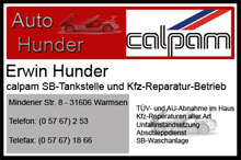 SB-Tankstelle und KFZ Reperaturbetrieb Erwin Hunder