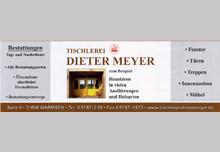 Tischlerei Dieter Meyer<br>Inh. Torsten Meyer