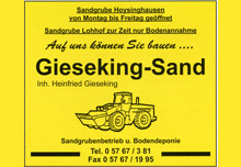 Gieseking Sand Inhaber Heinfried Gieseking