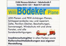 Firma Willi Bödeker Planenherstellung - Teichfolien - Fliegengitter