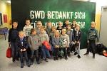 E-Jugend als Einlaufkinder bei GWD 2018
